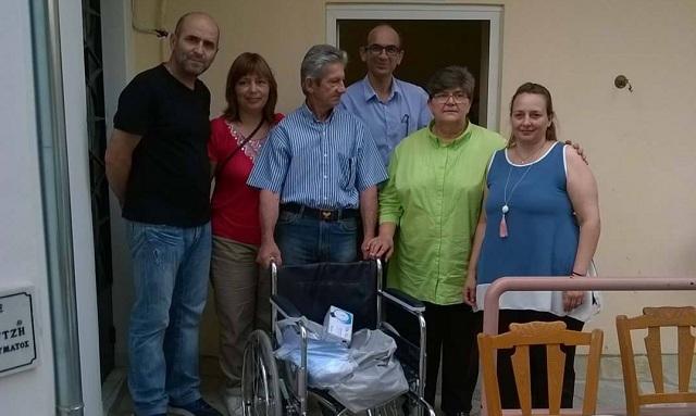 Τα καπάκια έγιναν βοήθεια στο Γηροκομείο από τον Σύλλογο Τριτέκνων Μαγνησίας