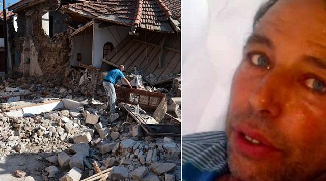 Η Πολιτεία με άφησε μόνο, λέει ο σύζυγος της νεκρής του σεισμού στη Λέσβο