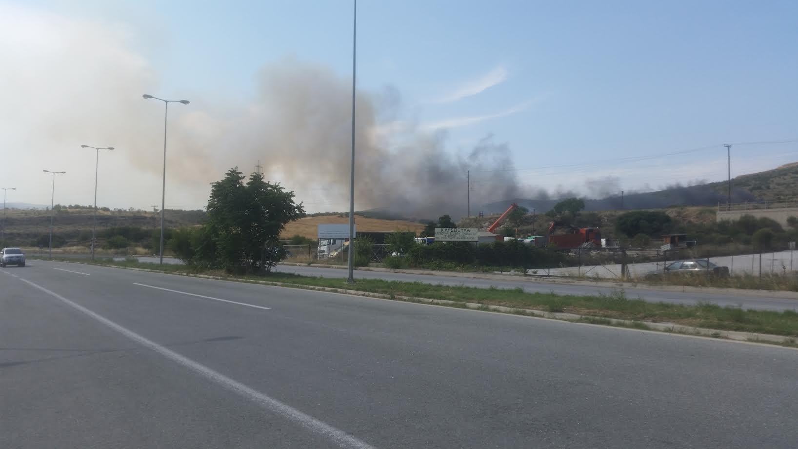 Φωτιά στο ύψος του Λατομείου στην Α'ΒΙΠΕ