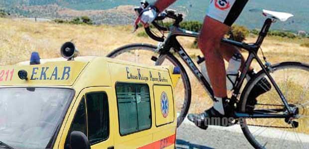 Ποδηλάτης έπεσε από ύψος 15 μέτρων σε ρεματιά στα Χάνια