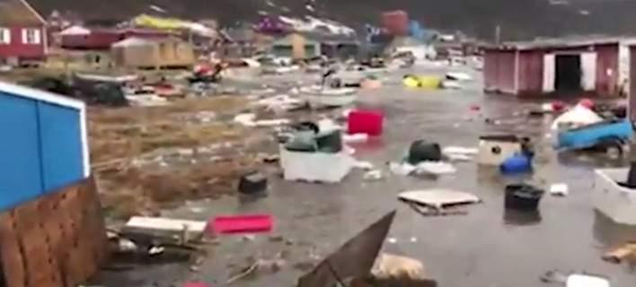 Η στιγμή που το τσουνάμι χτυπά τη Γροιλανδία [βίντεο]