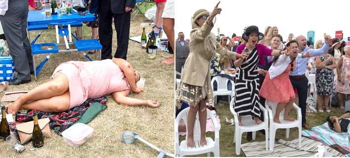 Σάλος και φέτος στις ιπποδρομίες του Ασκοτ- Ξύλο, μεθυσμένοι και ντροπιαστικές φωτογραφίες [εικόνες]