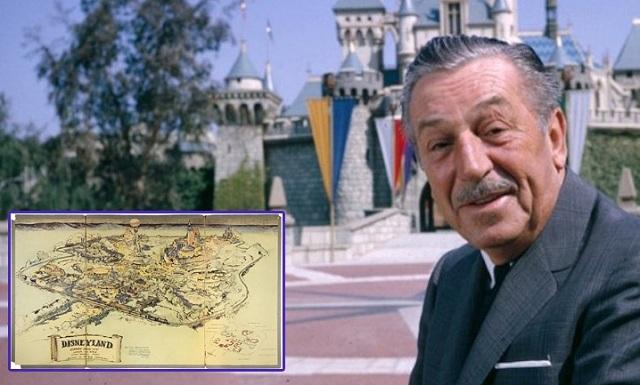 Ο Γουώλτ Ντίσνεϋ πουλάει ακόμη. «Χρυσός» σε δημοπρασία ο πρώτος χάρτης της Disneyland