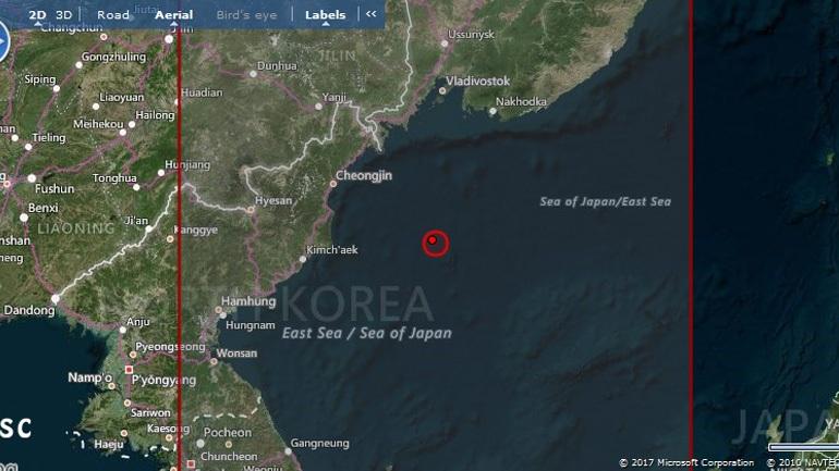 Σεισμός 5,8R στη θάλασσα της Ιαπωνίας