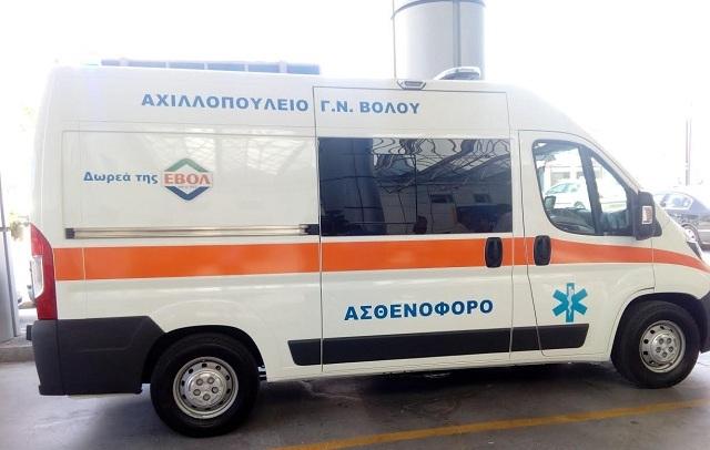 Εντάχθηκε στη δύναμη του νοσοκομείου το ασθενοφόρο δωρεά του ΑΣ Βόλου
