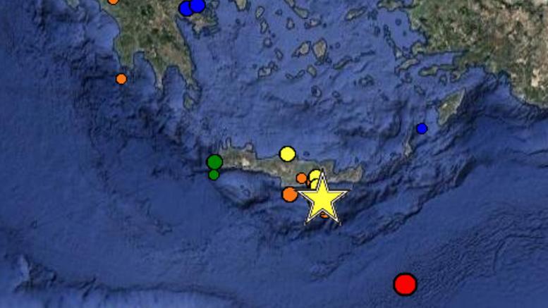 Σεισμός 5,3 Ρίχτερ ταρακούνησε την Κρήτη, ισχυροί μετασεισμοί