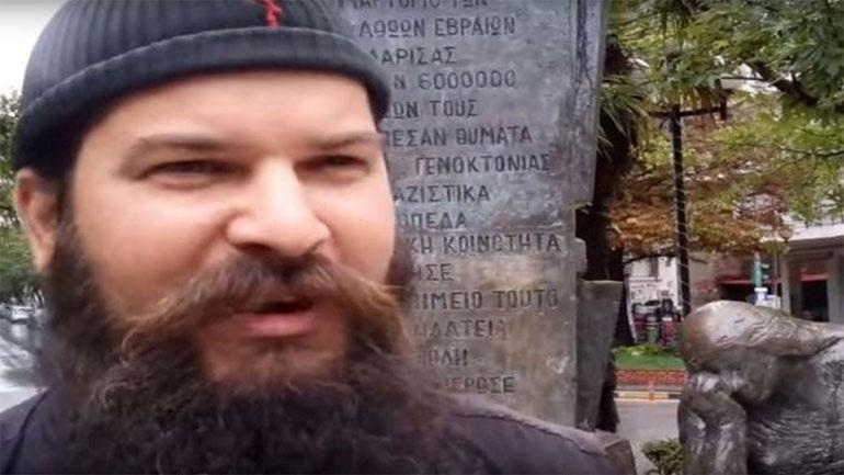 Στη Δικαιοσύνη το βίντεο με τον βανδαλισμό του μνημείου Ολοκαυτώματος στη Λάρισα
