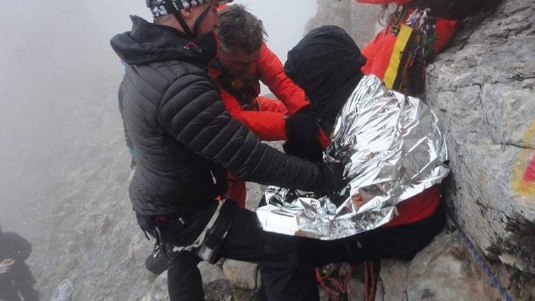 Καρέ-καρέ η επιχείρηση διάσωσης στον Όλυμπο