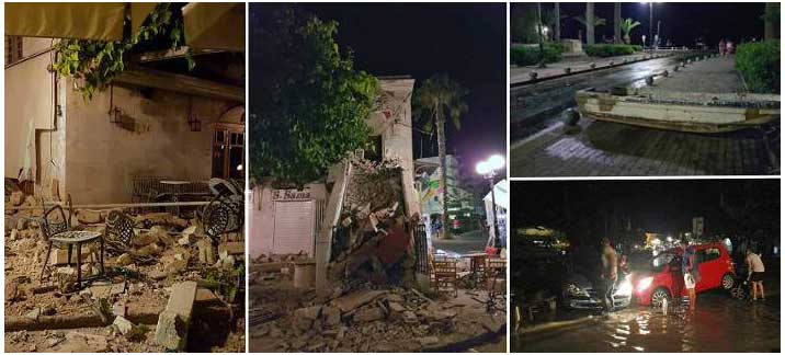 Φονικός σεισμός 6,4 Ρίχτερ στην Κω: Δύο νεκροί, τραυματίες, ζημιές
