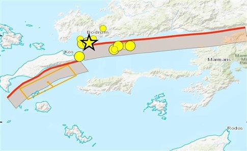 Με ιστορικούς σεισμούς συνδέεται το ρήγμα που ενεργοποιήθηκε στην Κω