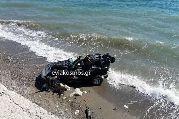 Tροχαίο στην Κύμη: Η 26χρονη εκτοξεύτηκε στον αέρα & κατέληξε στη θάλασσα