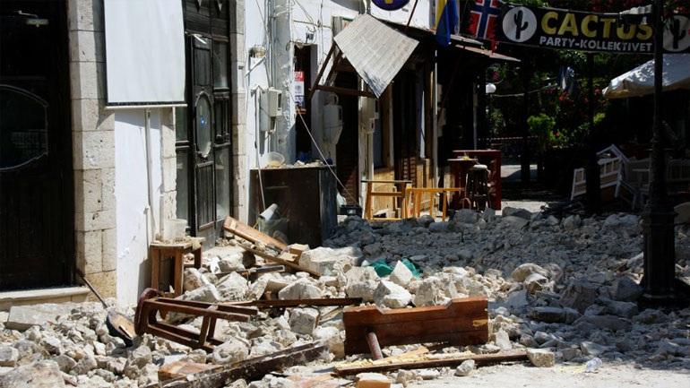 Παραμόρφωση τεσσάρων εκατοστών στην πόλη της Κω μετά τον φονικό σεισμό