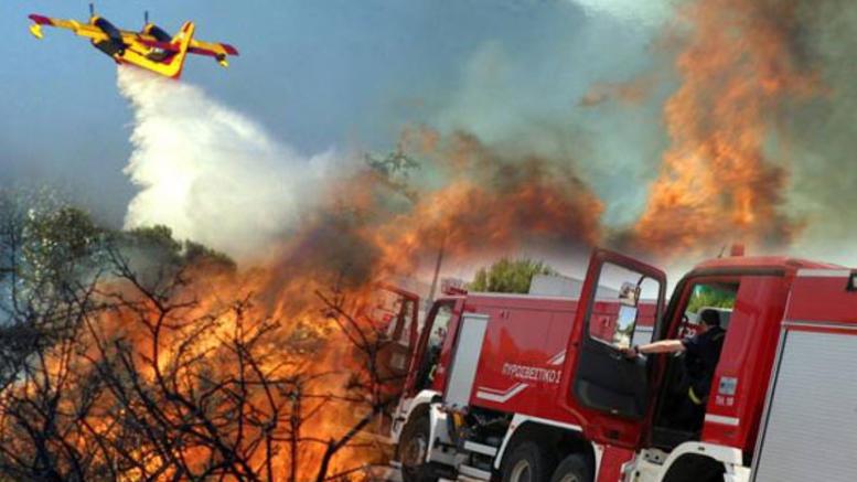 Σε κόκκινο συναγερμό για πυρκαγιές