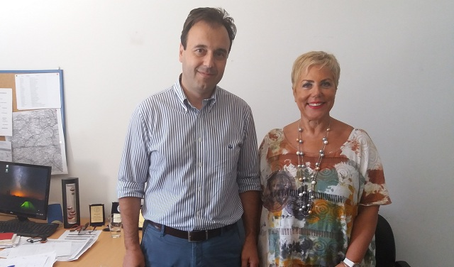 Συνάντηση Δήμαρχου Τρικκαίων με τη Διευθύντρια του ΕΚΑΒ Λάρισας