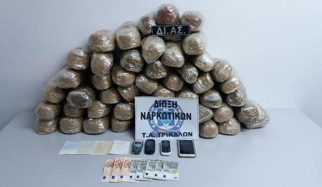 Καταδίωξη εμπόρου ναρκωτικών στον δρόμο Τρικάλων -Λάρισας