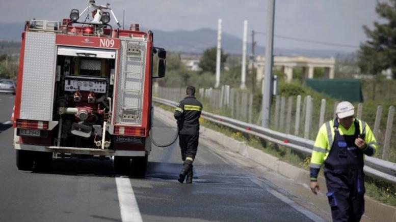 Πυρκαγιά σε εν κινήσει λεωφορείο στην Bαρυμπόμπη
