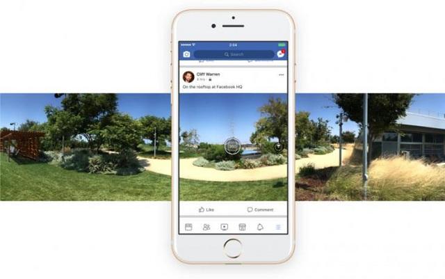 Λήψη φωτογραφιών 360 μοιρών στο Facebook