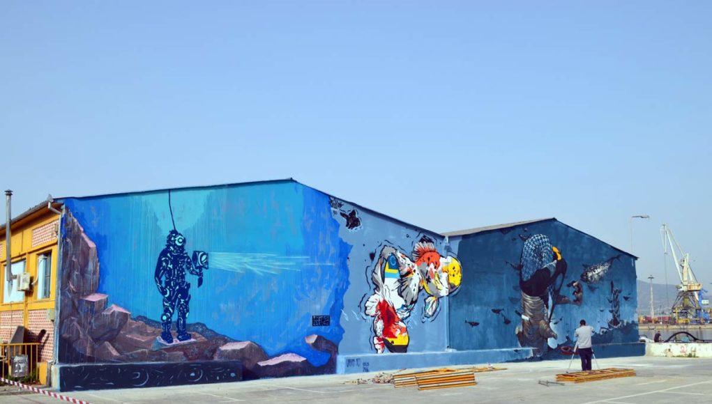 Τοιχογραφίες από την Urbanact στο Βόλο