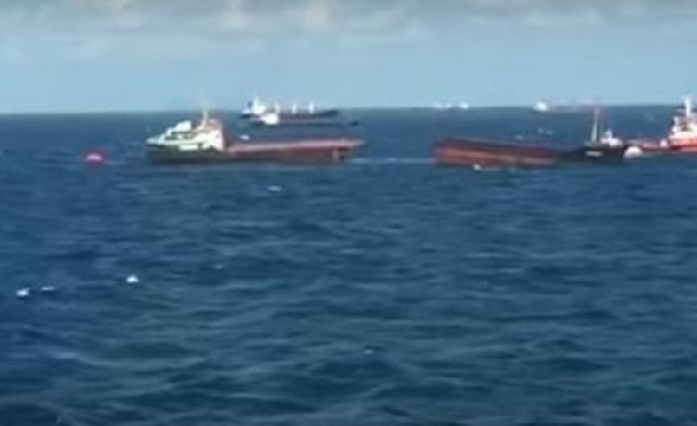 Φορτηγό πλοίο κόπηκε στη μέση στα ανοικτά της Μαύρης Θάλασσας