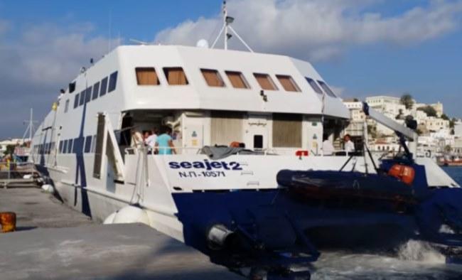 Τραυματισμός επιβατών από πρόσκρουση του Sea Jet 2 στο λιμάνι της Σίφνου