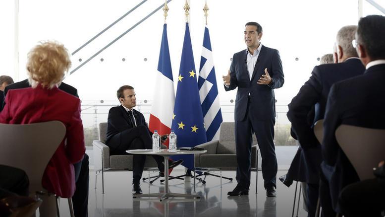 Τσίπρας - Μακρόν στους επιχειρηματίες: Επενδύστε στην Ελλάδα
