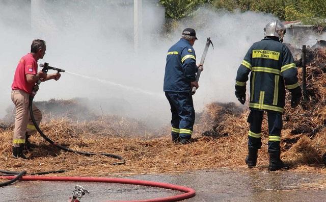 Μεγάλες ζημιές από τη φωτιά σε κτήμα στο Διμήνι