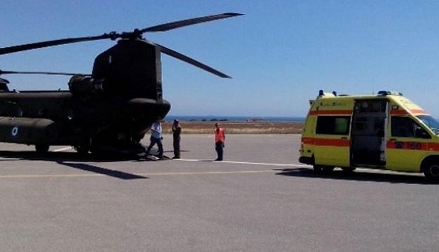 Αεροδιακομιδή στο Βόλο για διάσωση σοβαρά τραυματισμένου άνδρα