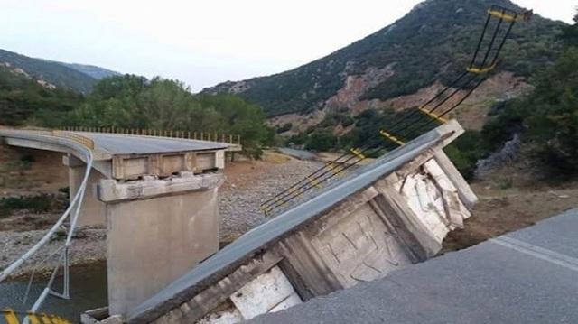 Κατέρρευσε γέφυρα στην παλιά εθνική οδό Ξάνθης -Κομοτηνής [εικόνες]