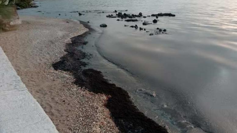 Μαύρισαν οι παραλίες στη Σαλαμίνα μετά τη βύθιση του Αγ. Ζώνη ΙΙ [εικόνες]