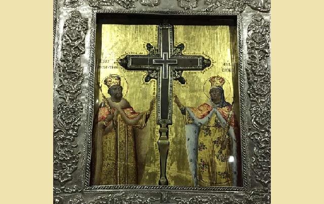 Τεμάχιο του Τιμίου Σταυρού από τα Ιεροσόλυμα στον Βόλο