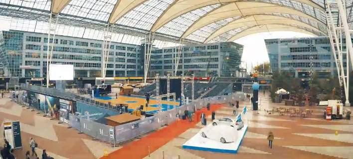 Το αεροδρόμιο του Μονάχου έγινε... γήπεδο μπάσκετ