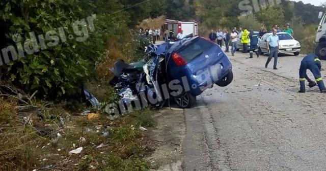 Δύο σμηνίτες νεκροί σε τροχαίο στην εθνική οδό Αμφιλοχίας -Βόνιτσας