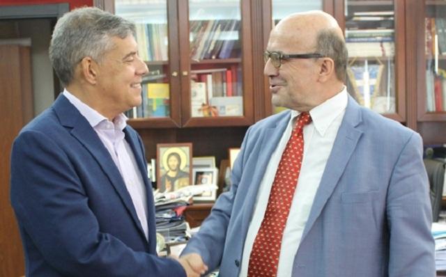 Συνάντηση Κ. Αγοραστού με τον απερχόμενο Πρόεδρο του ΤΕΙ Θεσσαλίας