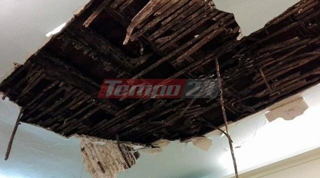 Κατέρρευσε το ταβάνι σε αίθουσα του δημοτικού ωδείου Πάτρας [photos]