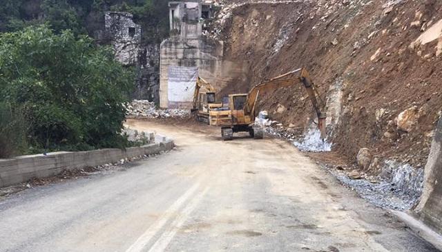 Αποκαθίσταται η κυκλοφορία στο δρόμο Βόλου -Τσαγκαράδας