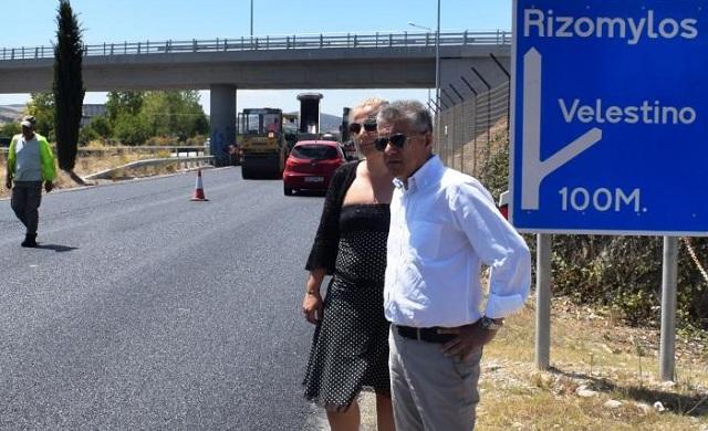 Διαγράμμιση σε 140 χλμ. στο οδικό δίκτυο της Μαγνησίας