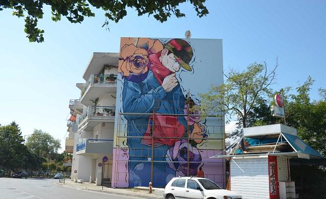 Μία ακόμη εντυπωσιακή τοιχογραφία σε ιδιωτικό κτίριο στο Βόλο [photos]