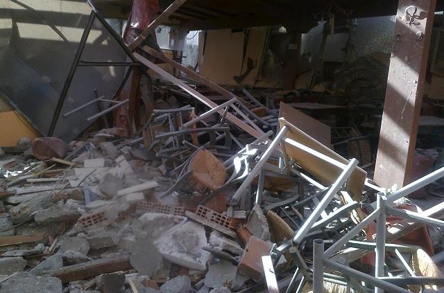 Εισαγγελική έρευνα για την έκρηξη σε ταβέρνα της Πορταριάς [εικόνες]