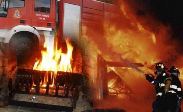 Πυρκαγιά σε καμινάδα στο Βόλο