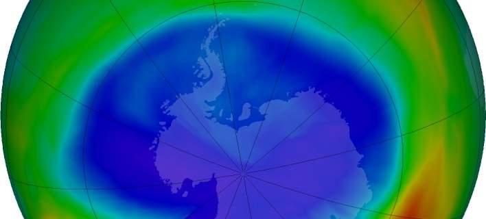 ΝΑSA: Η τρύπα του όζοντος πάνω από την Ανταρκτική συρρικνώθηκε σημαντικά φέτος [εικόνα-βίντεο]