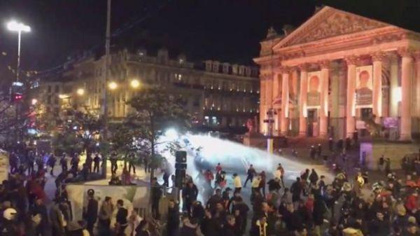 Επεισόδια στις Βρυξέλλες στους πανηγυρισμούς των Μαροκινών