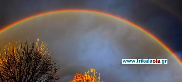 Εντυπωσιακό, διπλό ουράνιο τόξο στα Τρίκαλα [εικόνες-βίντεο]