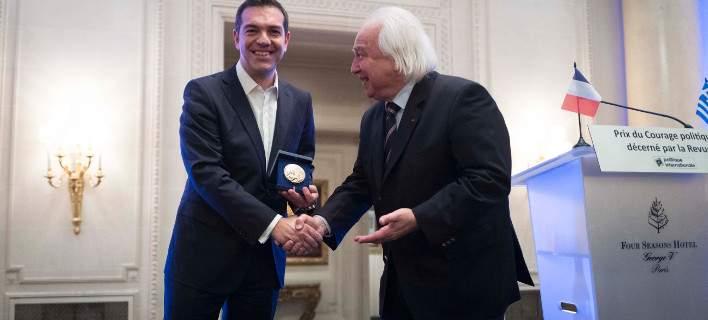 Βραβεύτηκε ο Αλ.Τσίπρας για το πολιτικό σθένος: «Το βραβείο ανήκει στον ελληνικό λαό»