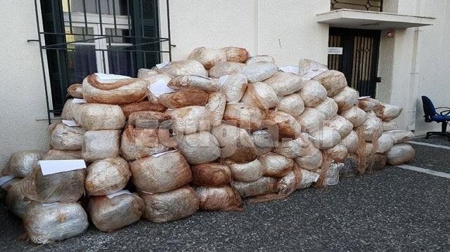 Στον ανακριτή οι 11 συλληφθέντες για την υπόθεση μεταφοράς 1,6 τόνων κάνναβης