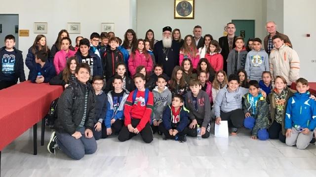 Επίσκεψη μαθητών του 6ου Δημοτικού Ν. Ιωνίας στον Μητροπολίτη