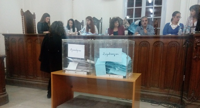 Η σταυροδοσία των υποψηφίων στις εκλογές των δικηγόρων του Βόλου