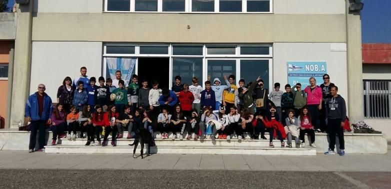Ξενάγηση μαθητών στις εγκαταστάσεις κωπηλασίας του ΝΟΒΑ