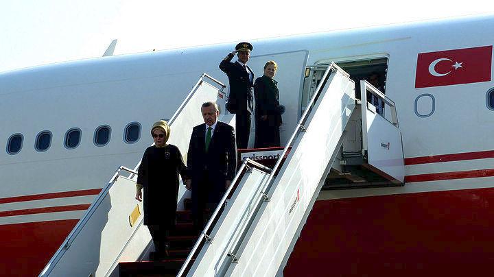 Εφτασε στην Αθήνα ο Τούρκος πρόεδρος Ταγίπ Ερντογάν