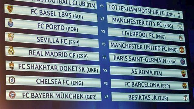 Κλήρωση ...δηλητήριο στους «16» του Champions League