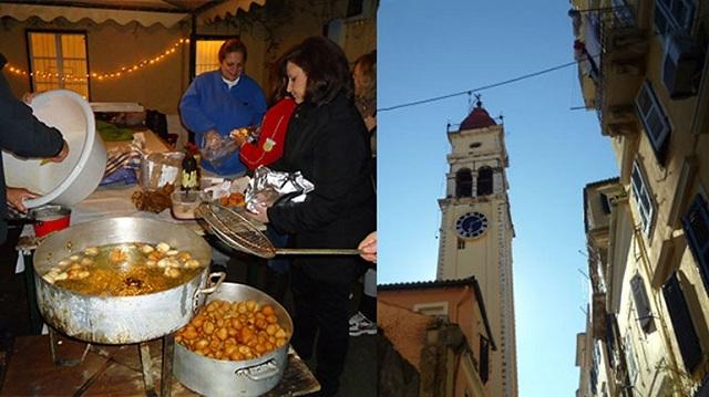 Παραμονή της γιορτής του Αγίου Σπυρίδωνα, στην Κέρκυκα μοσχομυρίζουν το βράδυ «οι τηγανίτες τ΄Αγιού»